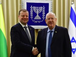 President Rivlin with Lithuanian PM II - 29 January 2019